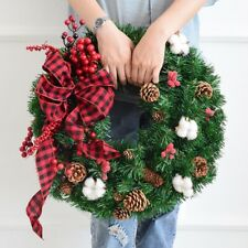 Artificial Pine Rattan Christmas Wreath Home Shopping Mall Window Door Decor New