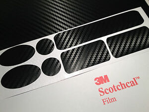 3M Scotch Carbon Fibre Vinyl Cycle cable rub frame protector patches BMX DH MTB