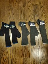 Wool Socks Dress Over the Calf 5 Pairs Navy/Grey sz.8-12
