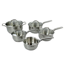 Tefal Intuition 5pc Non Stick Stainless Steel Milk Pan Saucepans Stock Pot Set