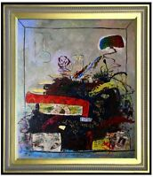 Framed Quality Hand Painted Oil Painting Untitled Abstract  20x24in