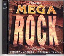 (DV737) Mega Rock, Vol 1, 34 tracks various artists - 1996 double CD