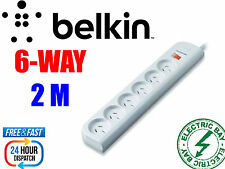Brand NEW Belkin 6 Way 6 Outlet Economy Surge Protector Power Board 2M