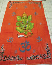 "Cotton Tapestry Table cloth 58"" x82"" Ganesha"
