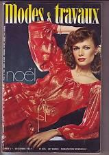 modes et travaux  925 - decembre 1977 -