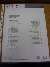 23/03/2014 Colour Teamsheet: Tottenham Hotspur v Southampton  . Thanks for viewi