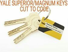1 x yale superior / malenco magnum security keys cut to code