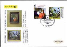 BRD 2017: Van-Delft- + Oudry-Gemälde! Post-FDC selbstklebende Nr 3280+3281! 1705