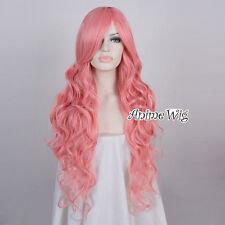 85CM Fashion Black/Blonde/Blue/Pink Long Curly Lolita Lady Wig + Wig Cap