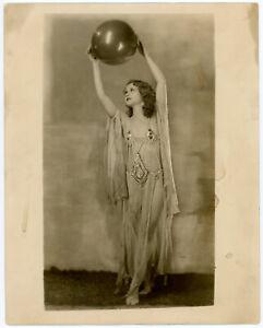 Spellbinding Burlesque Dancer with Balloon Enchanting Original 1930s Photograph