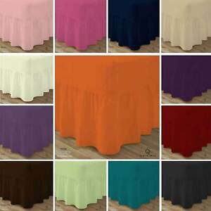 Plain Dyed Deep Fitted Valance Sheet 100% Poly Cotton Double King Or Pillowcase