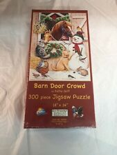 Barn Door Crowd 300 piece Jigsaw Puzzle SunsOut Jigsaw Art by Kathy Goff  NEW