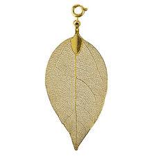 fleur enfant bijoux pendentif DAMES feuille couleur d'or S bl03sgo