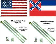 3x5 eeuu. AMERICANA & State of mississippi BANDERA ALUMINIO Polo Kit
