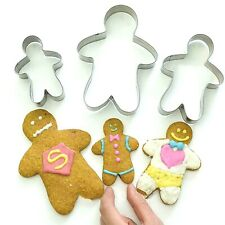 Christmas Gingerbread man Cookie Cutter - Fondant & Biscuit Instagram 3 Sizes UK