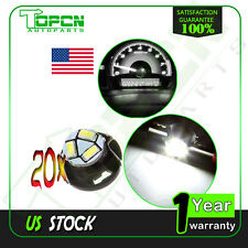 20X T5/T4.7 Neo Wedge White 3SMD LED Dashboard A/C Climate Indicator Light Bulb