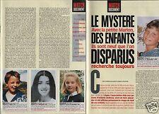 Coupure de presse Clipping 1999 Le Mystère des Enfants disparus Marion (4 pages)