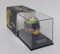 MINICHAMPS VALENTINO ROSSI AGV CASCO HELMET 1/8 WORLD CHAMPION MOTOGP 2005 RARE