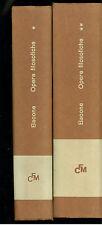 BACONE OPERE FILOSOFICHE  2 VOLUMI LATERZA 1965 CLASSICI DELLA FILOSOFIA MODERNA