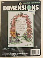 """Dimensions Counted Cross Stitch Kit No. 6731 """"The Path"""" 1997 New, Sealed 5"""" x 7"""""""
