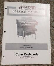 Conn Keyboards Service Manual Starduster Model 240