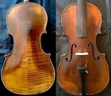 RARE ANTIQUE 4/4 AMATI VIOLIN Label: O.Bischofberger Zurich19.. FLAMED WOOD 小提琴