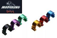 MotoKing Bmx Buckle Brake Cable C Clamp aluminum set of 5 Black