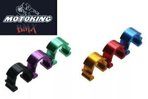 MotoKing Bmx Buckle Brake Cable C Clamp aluminum set of 5 Purple