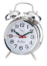 Acctim Keywound Saxon Silver Alarm Clock Luminous Manual Old Style Traditional