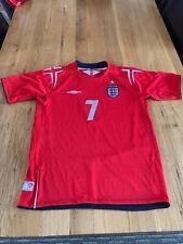 England Childs Football Shirt - 2004-2006 Official Product - Beckham #7