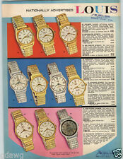 1969 PAPER AD 8 PG Louis Wrist Watch Mod Designs King Of The Sea Aquanaut 2000