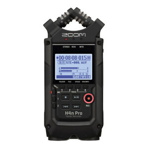 Zoom H4N PRO ALL BLACK Portable Handy Recorder