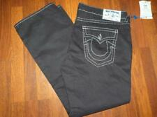 NWT TRUE RELIGION Straight Flap BLACK Phantom BIG T Jeans..Size 44x34