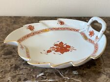 Herend Hungary Porcelain Chinese Bouquet Rusty Leaf Dish 8 5/8""