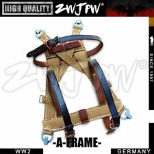 Reproduction WW2 German Army Webbing Frame Soldier A-Frame with Leather Straps