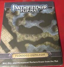 "Pathfinder Flip-Mat Pzo30063 Flooded Dungeon (1) 24""x30"" Color Map Sewers Nib"