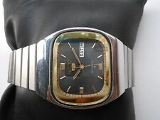 VINTAGE STAINLESS STEEL GENTS MENS SEIKO 5 TV DIAL AUTOMATIC WRISTWATCH JAPAN
