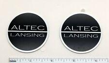 Altec Lansing Speaker Grill Badge Logo Emblem Round Pair Aluminum