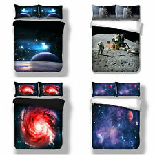 Space Galaxy Kids Bedding Duvet Cover Pillowcase Comforter Cover Twin Queen King