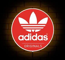 ADIDAS ORIGINALS TRAINERS RED LOGO BADGE SHOP SIGN LED LIGHT BOX GAMES ROOM