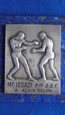 Médaille Argent 110g Mérite Sportif Alain Delon Boxe Savate Française UNIQUE !!!