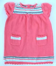 Gymboree PETITE BUNNY Sweater Dress 18-24 mo Coral Striped Gray Mint Easter