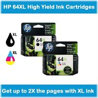 HP 64XL High-Yield Single Ink Cartridge in Box (Black or Tri-Color), EXP 2020 !