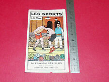 CHROMO 1931 CHOCOLAT REVILLON LES SPORTS N°1 BOXE BOXING CARPENTIER CRIQUI