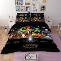 Single/Double/Queen/King Bed Doona/Quilt/Duvet Cover Set Star Wars Pillowcase