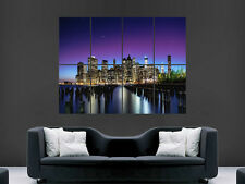 NEW YORK CITY STARS WATER NIGHT  POSTER LARGE ART  GIANT PRINT IMAGE HUGE