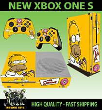 XBOX S une Console SLIM Sticker Simpsons Homer Mmm Donuts peau & PAD 2 SKINS