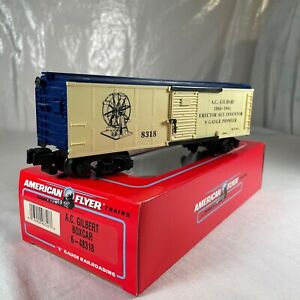 "American Flyer 6-48318 S Gauge ""A.C. GILBERT"" BOX CAR ""NEW"" in ORIG BOX"