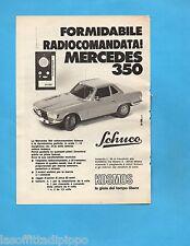 TOP972-PUBBLICITA'/ADVERTISING-1972- KOSMOS - SCHUCO MERCEDES 350