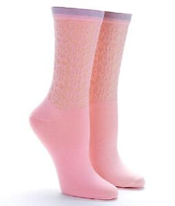 HUE U15211 WOW Openwork Ruffle Socks - Tutu Pink - MSRP $8.50